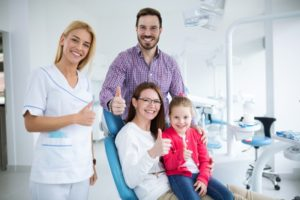 Family visiting DeLand family dentist